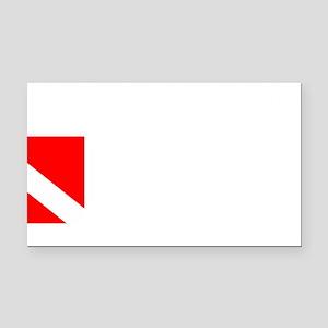 Rescue Diver 3 (white) Rectangle Car Magnet