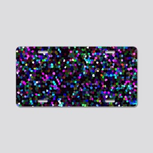 Glitter Graphic Background Aluminum License Plate