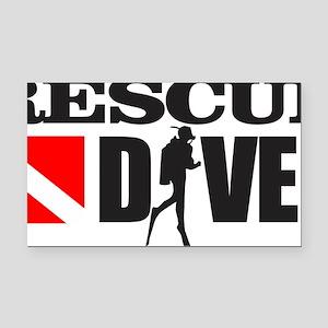 Rescue Diver 3 (blk) Rectangle Car Magnet
