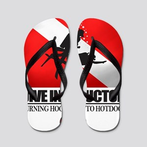 Dive Instructor 2 (back)(black) Flip Flops