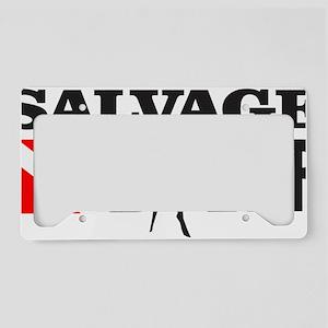 Salvage Diver 3 (black) License Plate Holder