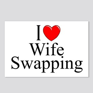 """""""I Love (Heart) Wife Swapping"""" Postcards (Package"""