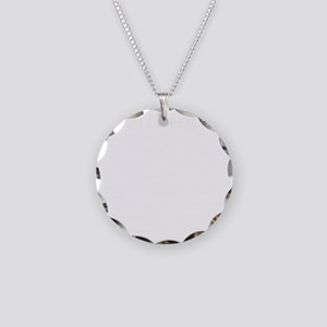 Red Head Necklace Circle Charm