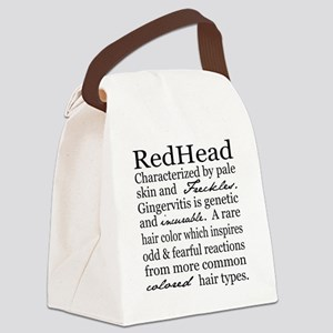 Red Head Canvas Lunch Bag