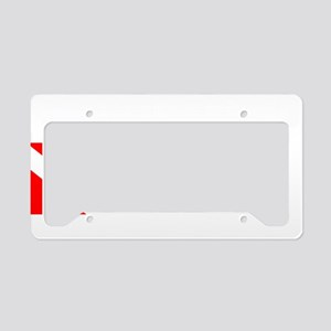 Wreck Diver 3 (white) License Plate Holder