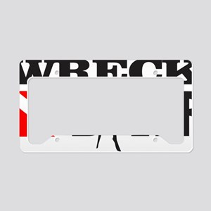 Wreck Diver 3 (black) License Plate Holder