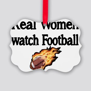 Real Women Watch Football Picture Ornament