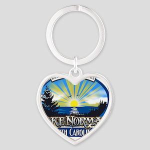 Lake Norman Sun Rays Logo Heart Keychain
