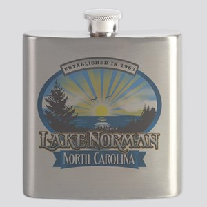 Lake Norman Sun Rays Logo Flask