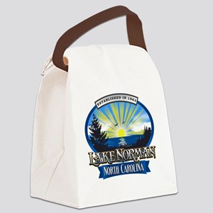 Lake Norman Sun Rays Logo Canvas Lunch Bag
