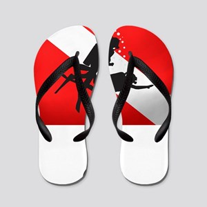 Dive Instructor 2 (back)(white) Flip Flops