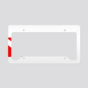 Salvage Diver 3 (white) License Plate Holder
