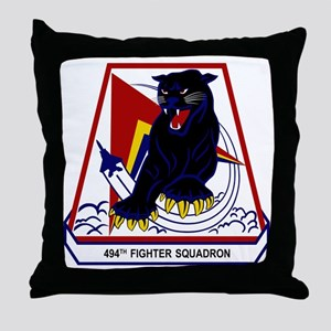 494th FS Panthers Throw Pillow