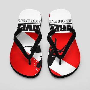 Wreck Diver 2 (back)(black) Flip Flops