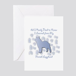 Learned Lapphund Greeting Cards (Pk of 10)