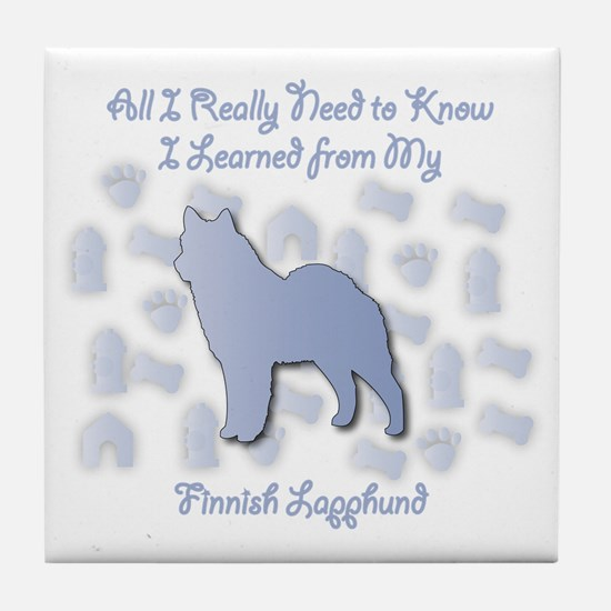 Learned Lapphund Tile Coaster