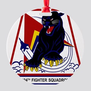 494th FS Panthers Round Ornament