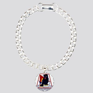 494th TFS Panthers Charm Bracelet, One Charm