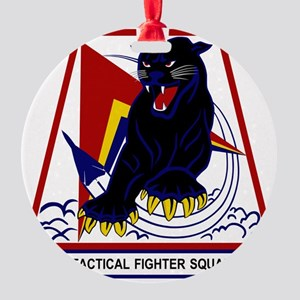 494th TFS Panthers Round Ornament