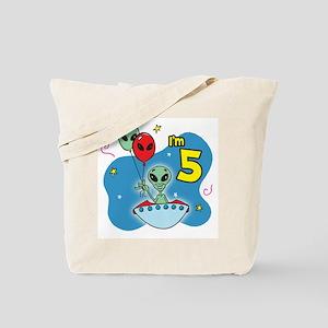 UFO 5th Birthday Tote Bag