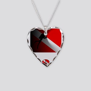 Cave Diving Necklace Heart Charm