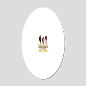Craft Beer 20x12 Oval Wall Decal