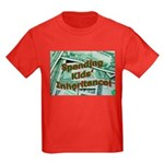 Spending Kids' Inheritance! Kids Dark T-Shirt