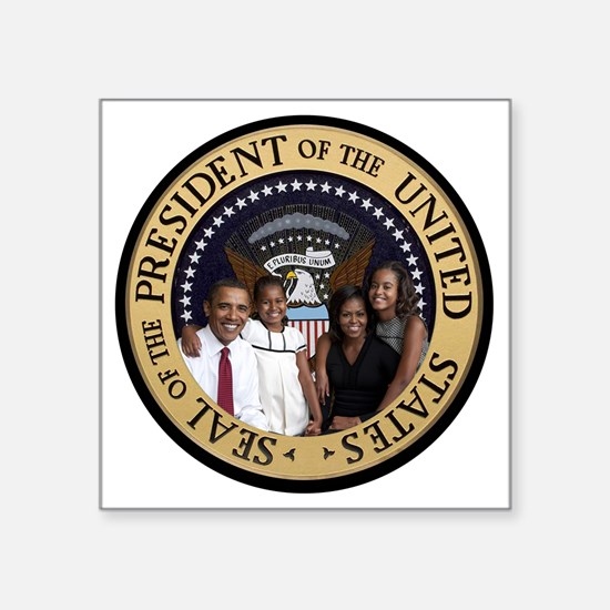 "Obama First Family T SHirt Square Sticker 3"" x 3"""