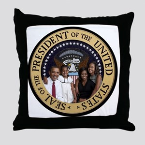 Obama First Family T SHirt Throw Pillow