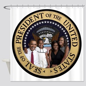 Obama First Family T SHirt Shower Curtain