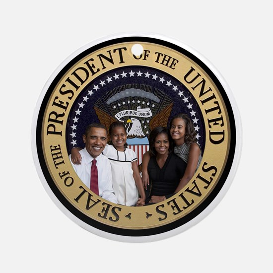 Obama First Family T SHirt Round Ornament