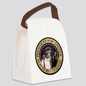 Obama First Family T SHirt Canvas Lunch Bag