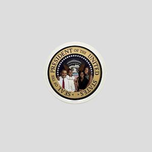 Obama First Family T SHirt Mini Button