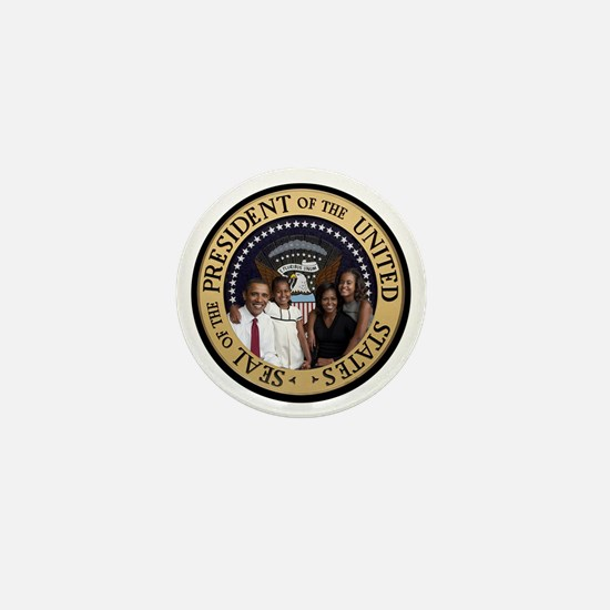 Obama First Family T SHirt Mini Button