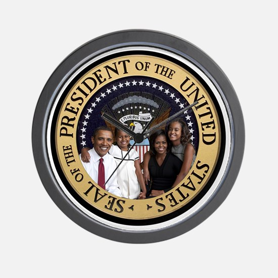 Obama First Family T SHirt Wall Clock
