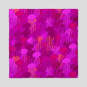 Jellyfish Shower Curtain (Pink) Queen Duvet