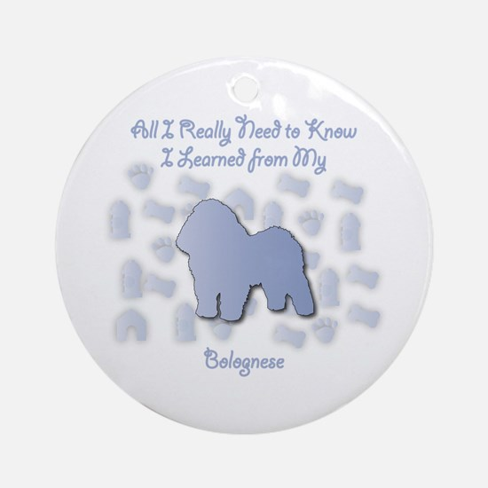 Learned Bolognese Ornament (Round)