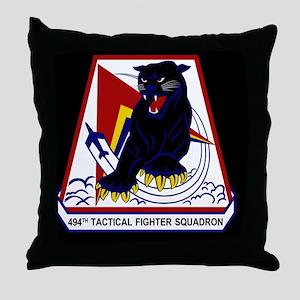 494th TFS Throw Pillow