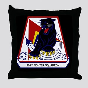 494th FS Throw Pillow
