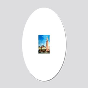 San Marco 20x12 Oval Wall Decal