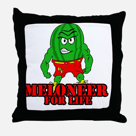 Meloneer 4 Life - Mascot Throw Pillow