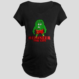 Meloneer 4 Life - Mascot Maternity Dark T-Shirt