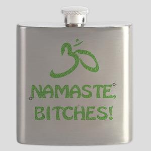 Glitter Namaste Bitches Flask