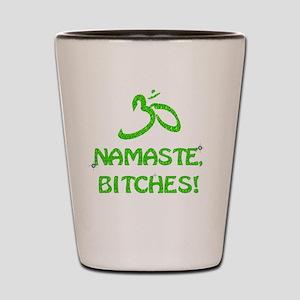 Glitter Namaste Bitches Shot Glass