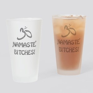 Sparkly Namaste Bitches Drinking Glass