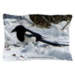 Black Billed Rocky Mountain Magpie Pillow Case