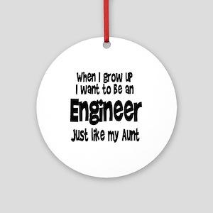 WIGU Engineer Aunt Ornament (Round)