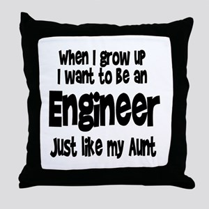 WIGU Engineer Aunt Throw Pillow