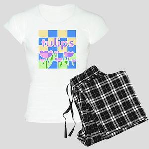 Geometric Spring Tulips Women's Light Pajamas