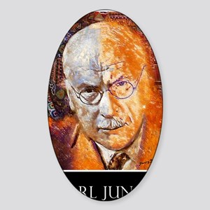 Carl Jung Poster Sticker (Oval)